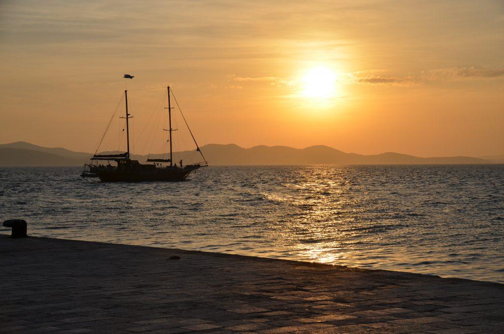 Coucher de soleil sur Zadar