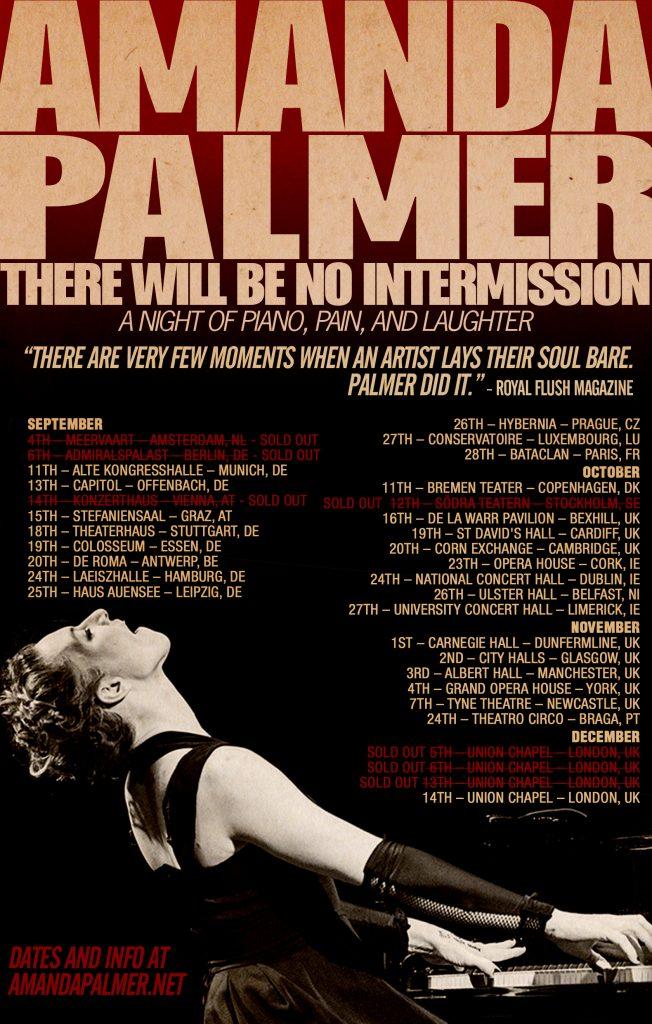 Poster dates Européennes d'Amanda Palmer