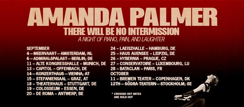 Dates de la tournée d'Amanda Palmer 2019
