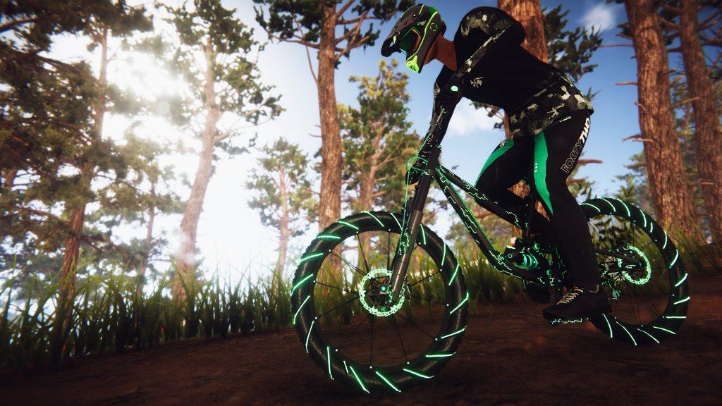 Descenders : screenshot dans la forêt