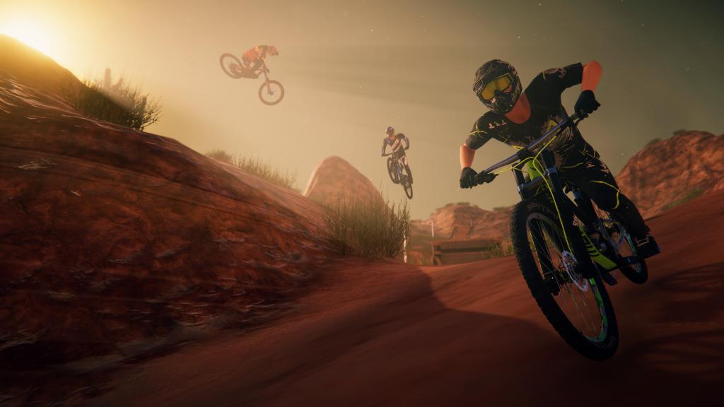 Descenders : screenshot dans le désert