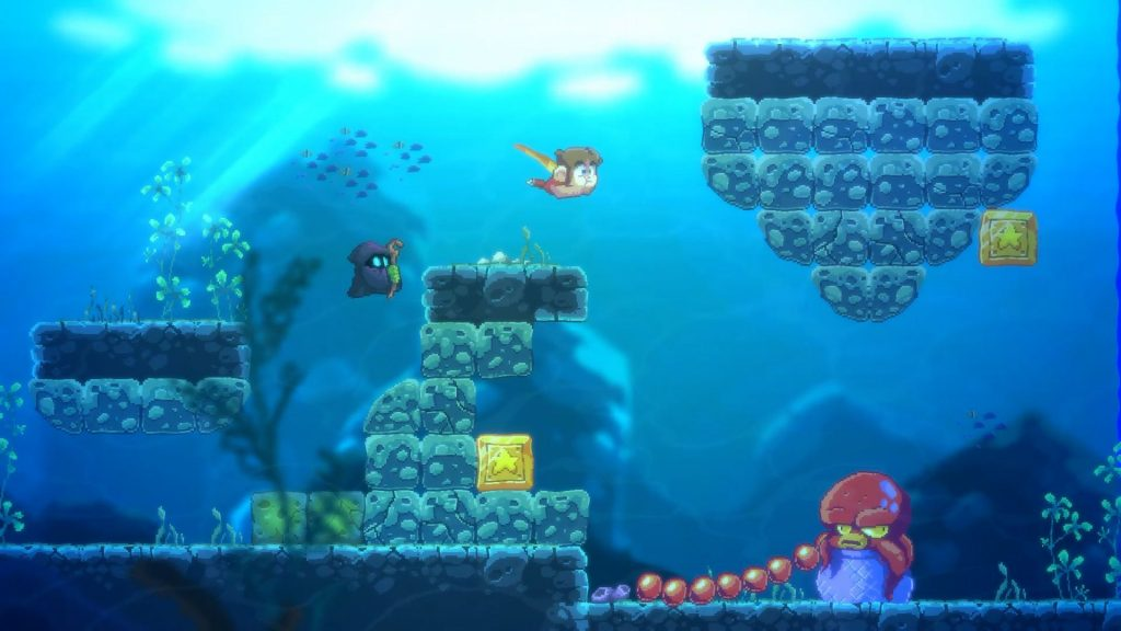 Jeu Alex Kidd in Miracle World DX - niveau aquatique
