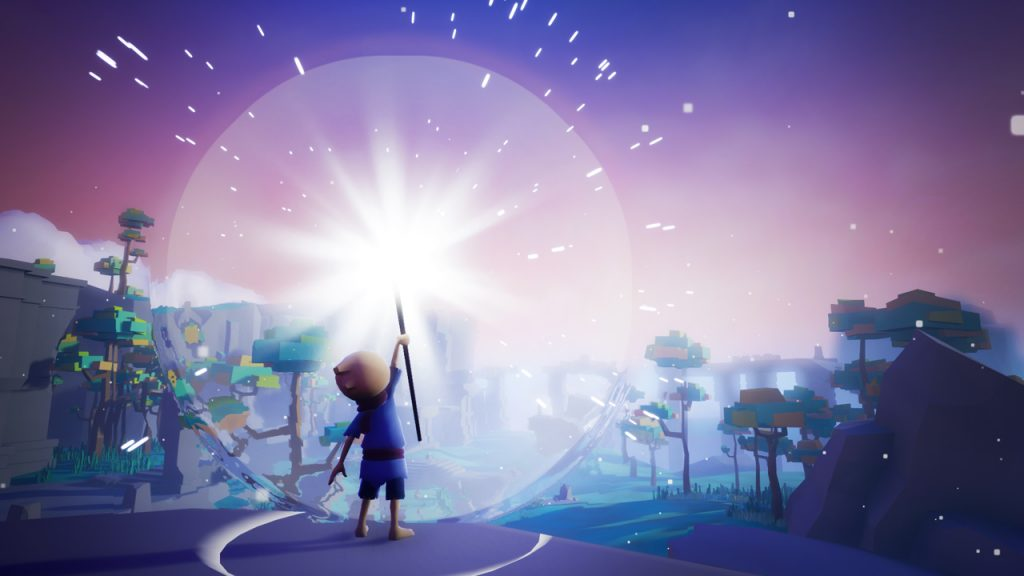 Jeu Omno sur PS4 - baton de lumière